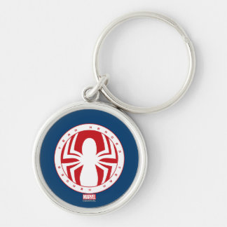 Spider-Man Team Heroes Emblem Silver-Colored Round Keychain