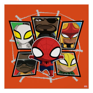Spider-Man Team Heroes Mini Group Poster