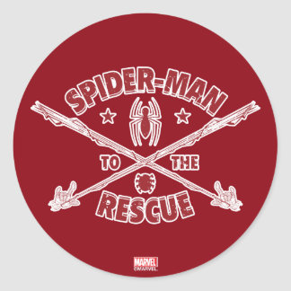 Spider-Man To The Rescue Classic Round Sticker