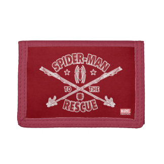 Spider-Man To The Rescue Tri-fold Wallets