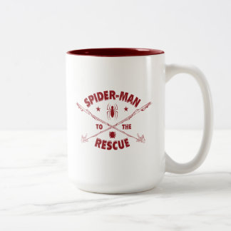 Spider-Man To The Rescue Two-Tone Coffee Mug