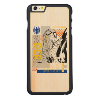 Spider-Man Ultimate Bauhaus Collage Carved® Maple iPhone 6 Plus Case