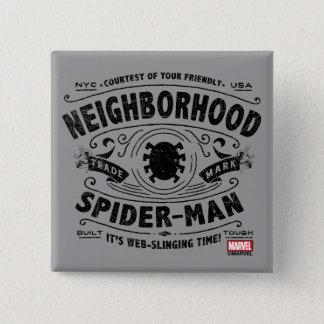 Spider-Man Victorian Trademark 2 Inch Square Button