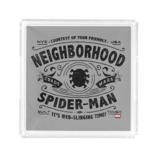 Spider-Man Victorian Trademark Acrylic Tray