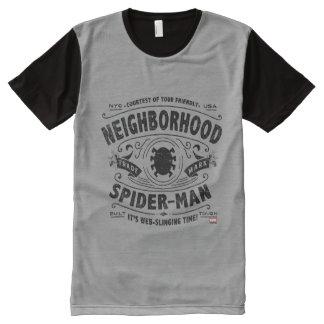 Spider-Man Victorian Trademark All-Over-Print T-Shirt
