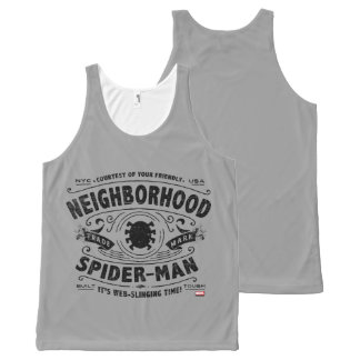 Spider-Man Victorian Trademark All-Over-Print Tank Top