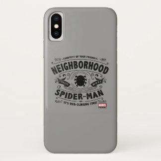 Spider-Man Victorian Trademark iPhone X Case