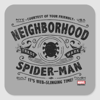Spider-Man Victorian Trademark Square Sticker