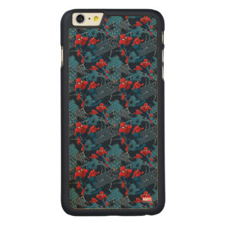 Spider-Man Wall Crawler Pattern Carved® Maple iPhone 6 Plus Case