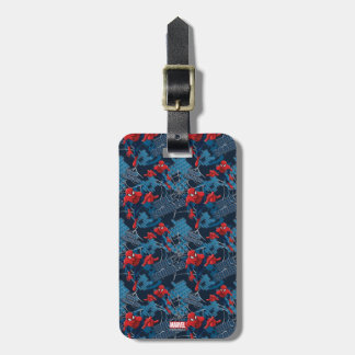 Spider-Man Wall Crawler Pattern Luggage Tag