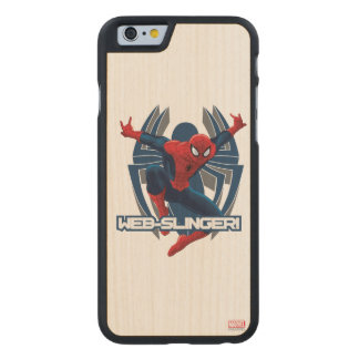 Spider-Man Web-Slinger Graphic Carved® Maple iPhone 6 Case