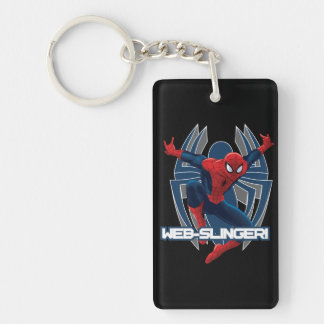 Spider-Man Web-Slinger Graphic Double-Sided Rectangular Acrylic Keychain