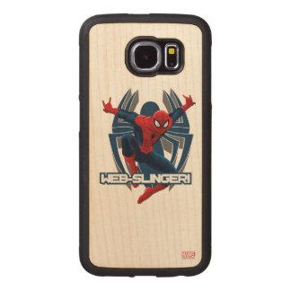 Spider-Man Web-Slinger Graphic Wood Phone Case