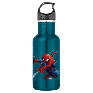 Spider-Man Web Slinging By Train 532 Ml Water Bottle