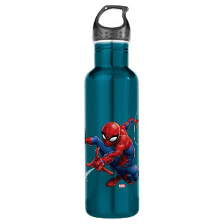 Spider-Man Web Slinging By Train 710 Ml Water Bottle