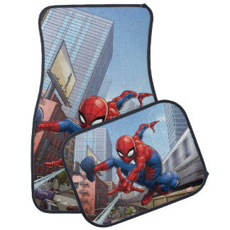 Spider-Man Web Slinging By Train Car Mat
