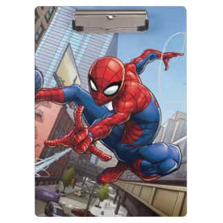 Spider-Man Web Slinging By Train Clipboard