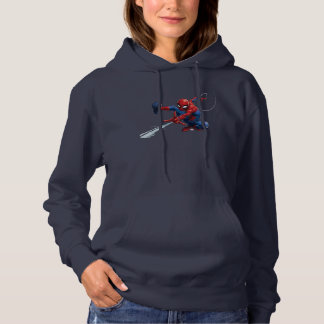 Spider-Man Web Slinging By Train Hoodie
