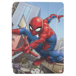 Spider-Man Web Slinging By Train iPad Air Cover