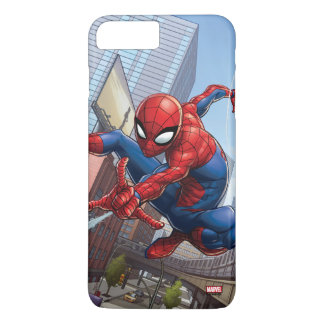 Spider-Man Web Slinging By Train iPhone 8 Plus/7 Plus Case