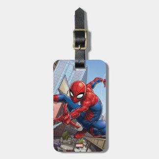 Spider-Man Web Slinging By Train Luggage Tag
