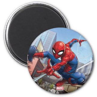 Spider-Man Web Slinging By Train Magnet