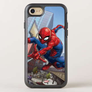 Spider-Man Web Slinging By Train OtterBox Symmetry iPhone 8/7 Case