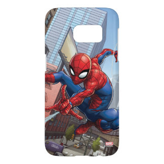 Spider-Man Web Slinging By Train Samsung Galaxy S7 Case