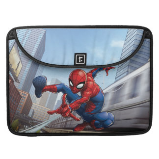 Spider-Man Web Slinging By Train Sleeve For MacBook Pro