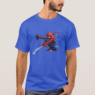 Spider-Man Web Slinging By Train T-Shirt
