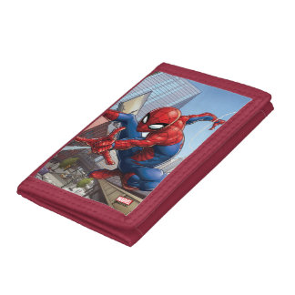 Spider-Man Web Slinging By Train Tri-fold Wallet