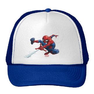 Spider-Man Web Slinging By Train Trucker Hat