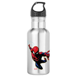 Spider-Man Web Slinging From Above 532 Ml Water Bottle