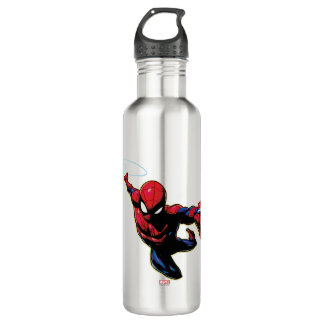 Spider-Man Web Slinging From Above 710 Ml Water Bottle