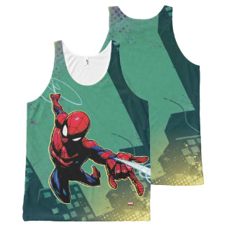 Spider-Man Web Slinging From Above All-Over-Print Tank Top