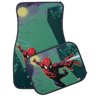 Spider-Man Web Slinging From Above Car Mat