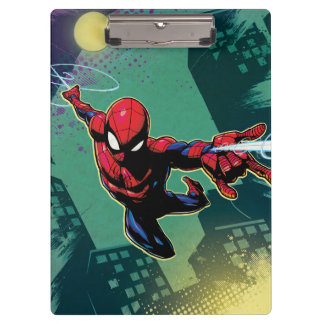 Spider-Man Web Slinging From Above Clipboard