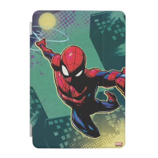 Spider-Man Web Slinging From Above iPad Mini Cover