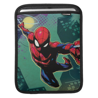 Spider-Man Web Slinging From Above iPad Sleeve