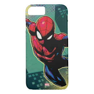Spider-Man Web Slinging From Above iPhone 7 Case