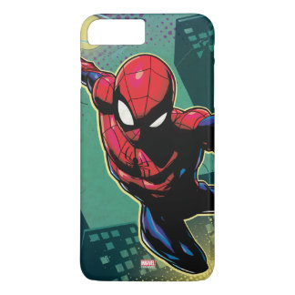 Spider-Man Web Slinging From Above iPhone 8 Plus/7 Plus Case