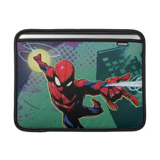 Spider-Man Web Slinging From Above MacBook Sleeve