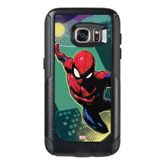 Spider-Man Web Slinging From Above OtterBox Samsung Galaxy S7 Case
