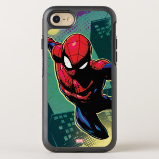 Spider-Man Web Slinging From Above OtterBox Symmetry iPhone 8/7 Case