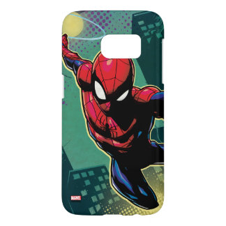 Spider-Man Web Slinging From Above Samsung Galaxy S7 Case