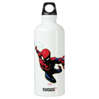 Spider-Man Web Slinging From Above Water Bottle