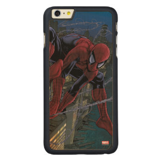 Spider-Man Web Slinging From Daily Bugle Carved® Maple iPhone 6 Plus Case