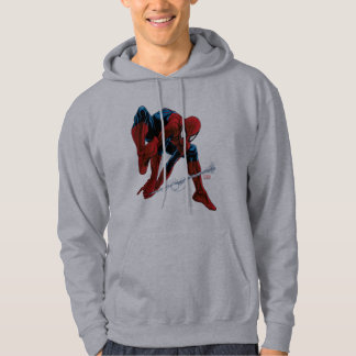 Spider-Man Web Slinging From Daily Bugle Hoodie