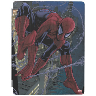 Spider-Man Web Slinging From Daily Bugle iPad Cover