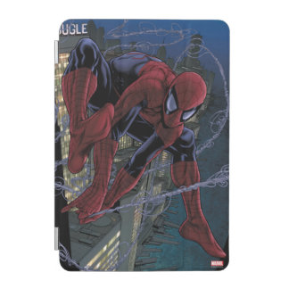Spider-Man Web Slinging From Daily Bugle iPad Mini Cover